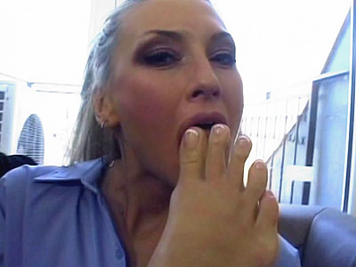 Porn star Pretty Foot Fetish Tease